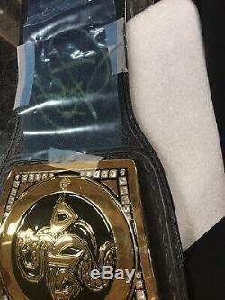 Officiel Wwe Championship Authentique Deluxe Replica Titre Ceinture Noire Ont Signé
