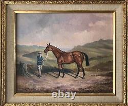 Originale Oil Art Irlandais À Bord Peinture Cheval Kellsboro Jack Grand National Win