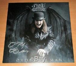Ozzy Osbourne Ordinary Man Signé Litho Deluxe Argent Fumée New Elton