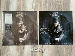 Ozzy Osbourne Signe Ordinaire Man Vinyl Deluxe Lp Argent Smoke Officiel Litho