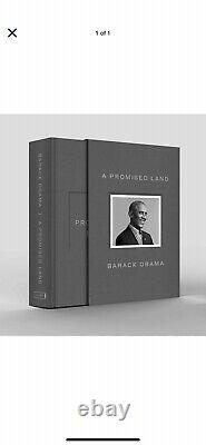 Président Barack Obama Signed'a Promised Land Deluxe Edition Livre Autographié