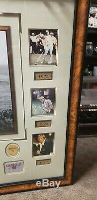 Rare 3 De 5 Jack Nicklaus Golf Signature Encadrée Grand Slam Champion Vainqueur Des Masters