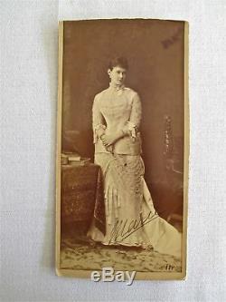 Rare Signé Grande Duchesse Maria Pavlovna / Mecklenbourg-schwerin Photo De 1884