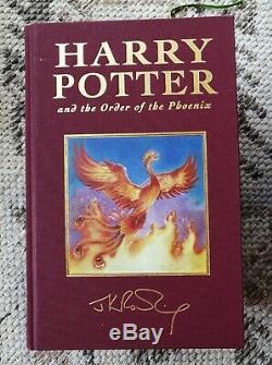 Rare Signé Harry Potter Deluxe Edition 6 Tissu Livre Livre Relié Jk Rowling