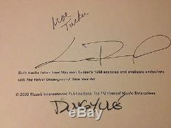 Rare The Velvet Underground De New York Art Signé Lou Reed Deluxe Limitée