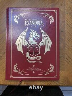 Rôle Critiqueles Chroniques D'exandria Vox Machina Vol 1 Edition Deluxe Signée
