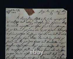 Russian Royalty Grande-duchesse Maria Pavlovna A Signé Une Lettre De Document Manuscrit