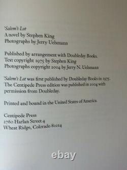 Salem's Lot Stephen King Centipede Press Signed Limited