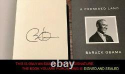 Scellé Une Terre Promise Deluxe Barack Obama Signé À La Main Navire Rapide
