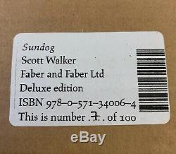 Scott Walker Sundog De Luxe En Cuir Main Signe Edition Ltd N0 7 100 Nouveau