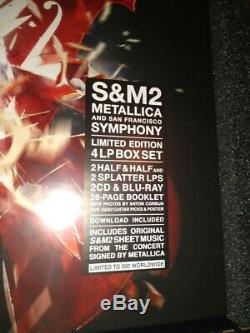 Signe / 500 Metallica S & M2 Super Deluxe Box Set Sheet Music Originale Autographed