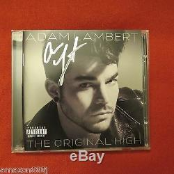 Signé Adam Lambert En Personthe Originale Haute Deluxe Edition CD Reine Avant