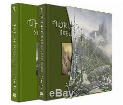 Signé Alan Lee Le Hobbit Et Le Seigneur Des Anneaux Sketchbooks Deluxe Box Set