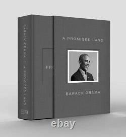 Signé Barack Obama Autographié Deluxe Copie Une Terre Promise