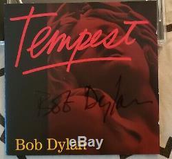Signé Bob Dylan Tempest CD Deluxe Edition Rare! De Dylan Pop-up Sto