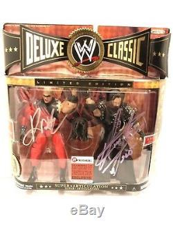 Signé Kane & Undertaker Exclusive Wwe Jakks Classique Figures Deluxe Autograph