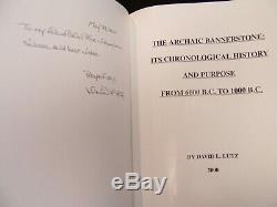 Signé Limited Edition Deluxe Copie Du Archaic Bannerstone Lutz (2000)