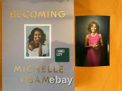 Signé Obama Michelle Deluxe Edition Clothbound Devenant Scellés! Sensationnel