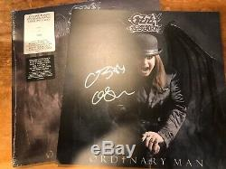 Signé Ozzy Osbourne Ordinaire Man Deluxe Argent Fumée Vinyl Avec Lithographie Signée