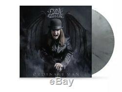 Signé Ozzy Osbourne Ordinaire Man Deluxe Argent Smoke Lp Vinyl Signé Litho