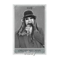 Signé Ozzy Osbourne Ordinaire Man Deluxe Argent Smoke Vinyl Lp & Litho
