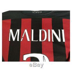 Signé Paolo Maldini Ac Milan Chemise Encadrée Afficher Deluxe