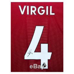 Signé Virgil T-shirt Van Dijk Liverpool Fc Encadrée Afficher Lfc Deluxe