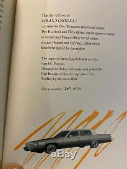 Signes Limitée De Luxe King Stephen Dolan Colonne Vertébrale Cuir Cadillac Planches Marbré