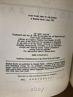 Star Wars Heir To The Empire Deluxe Limited First Edition 4/300 Signé Zahn Rare