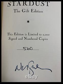 Stardust Signée Par Neil Gaiman Mint Deluxe Slipcased Hardback Limitée 1/2000