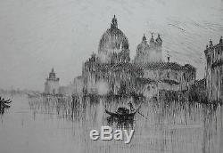 Sydney Litten-britannique Réaliste-signée À La Main Lim. Ed. Eau-forte-grand Canal-venise