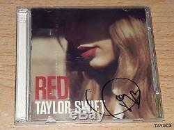 Taylor Swift CD Album Red Deluxe Edition Autographié Livret Signée Couverture