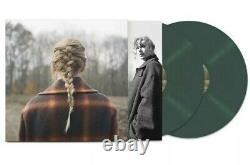 Taylor Swift Evermore Deluxe Green 2lp (version Webstore) & CD Signé Nouveau