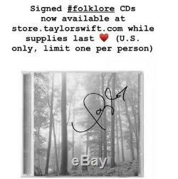 Taylor Swift Signé À La Main Dans L'édition Limitée De Luxe Arbres Folklore CD Rare