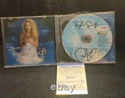 Taylor Swift Signé Taylor Swift CD Deluxe CD Notre Chanson Psadna Authentic #ah48828
