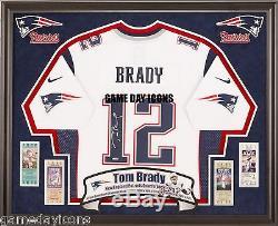 Tom Brady Chance Ect. Cadre Personnalisé Votre Nike, Reebok NFL Chandail Autographié Deluxe