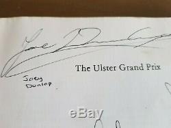 Ulster Grand Prix Broché 1 Juillet 1979 Signé Par Joey Dunlop, Mick Grant Etc.