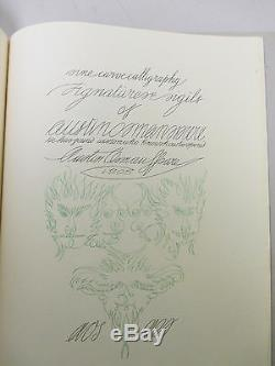 Un Livre De Dessin Automatique Austin Osman Spare Signe Deluxe Limitée Ed Occulte