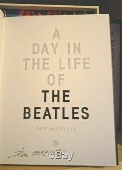 Une Journée Dans La Vie Des Beatles Par Don Mccullin Signé Deluxe Avec Cased Imprimer