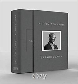 Une Terre Promise Deluxe Signé Édition Président Barack Obama En Main