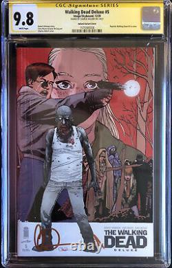 Walking Dead Deluxe #1-6 Ensemble De Housses De Variante All Cgc 9.8 Signé Par Charlie Adlard