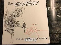 Wayne Barlowe Inferno Deluxe En Cuir Ltd Ed 1/250 Autographiés