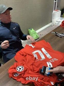Wayne Rooney Signé Et Deluxe Encadré Manchester United 10 Shirt Avec Coa £ 199