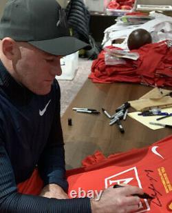Wayne Rooney Signed Et Deluxe Framed Manchester United Strut Avec Coa £199