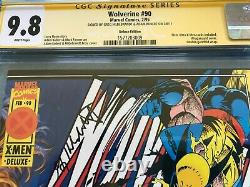Wolverine #90 Deluxe Marvel Cgc Ss 9,8 Nm/mt Signé Par Kubert, Hildebrandt