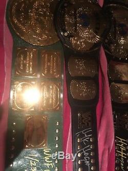 Wwf Signé Deluxe Hulk Hogan Winged Aigle Lutte À La Ceinture Heavyweight Wwe Coa